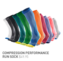 Compression Performance Run Socks